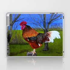 Rooster in the back yard Laptop & iPad Skin