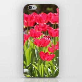 Neon Red Tulips iPhone Skin