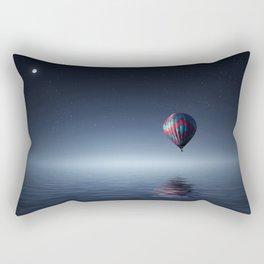 Hot Air Balloon Reflection Rectangular Pillow