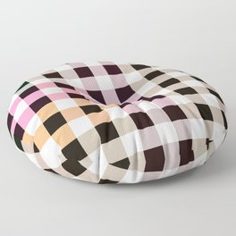 Patchwork Striped Checkerboard Gradient Floor Pillow