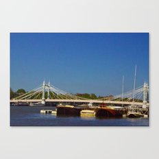 Albert Bridge on the Thames in London Canvas Print