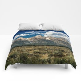 The Grand Tetons - Summer Mountains Comforters