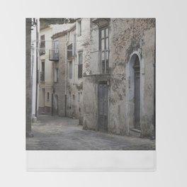 Sicilian Alley in Caltabellotta Throw Blanket