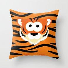 Minimal Tiger Throw Pillow