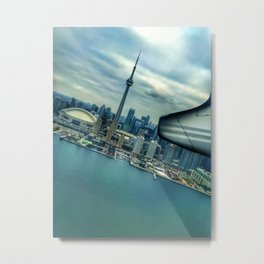 Toronto Skyline from Plane Metal Print