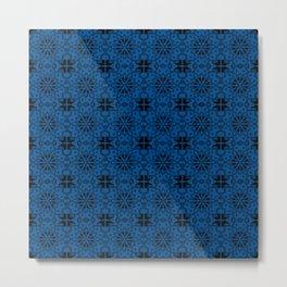 Lapis Blue Star Geometric Metal Print