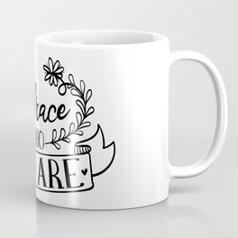 Embrace Who You Are Inspirational Floral Quote Coffee Mug
