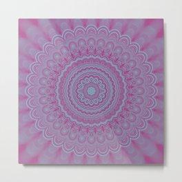 Geometric flower mandala Metal Print
