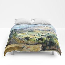 1890 - Paul Cezanne - Montagne Saint-Victoire Comforters