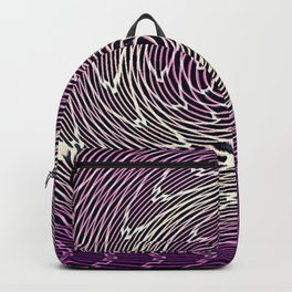 graphic abstract lines wave art Backpack