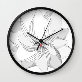 The Flower of my Heart Wall Clock