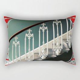 Stairway - red graphic Rectangular Pillow