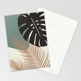 Minimal Monstera Palm Finesse #1 #tropical #decor #art #society6 Stationery Cards