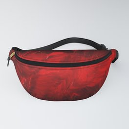 Red And Black Luxury Abstract Gothic Glam Chic by Corbin Henry Fanny Pack