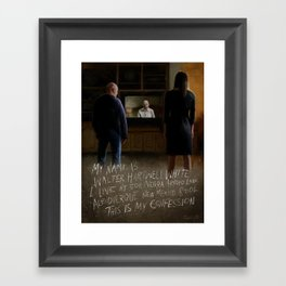 """This is my confession."" Framed Art Print"