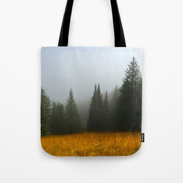Olive Green Pines Tote Bag