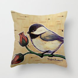 Smol Wildbird Throw Pillow