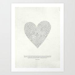 Coded heartprint Art Print
