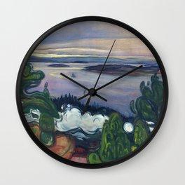 Edvard Munch - Train Smoke Wall Clock