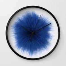 Blue Fuzz Wall Clock