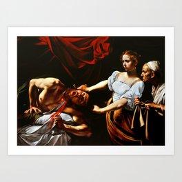 Caravaggio Judith Beheading Holofernes Art Print