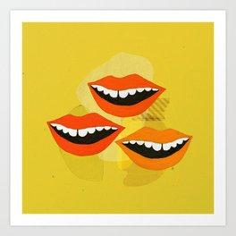 Lips (Yellow) Art Print