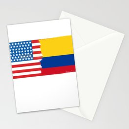 colombian american half colombia half america flag tee Stationery Cards
