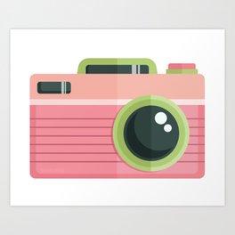 Vintage Camera: Melon Art Print