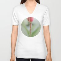 blush V-neck T-shirts featuring Spring Blush by A Wandering Soul