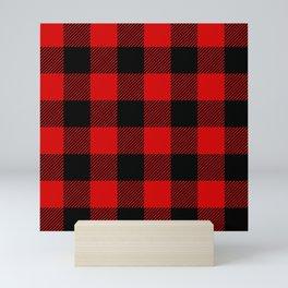 Red Lumberjack Pattern Mini Art Print