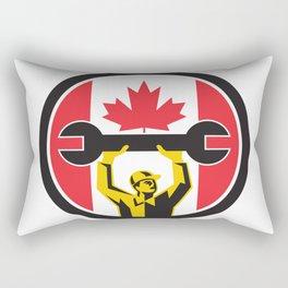 Canadian Mechanic Canada Flag Icon Rectangular Pillow