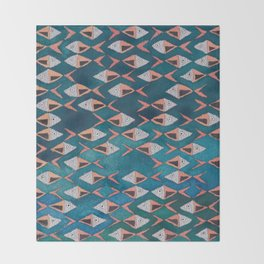 School of Fish Pattern Throw Blanket