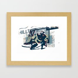 Goalie - Ice Hockey Player Framed Art Print