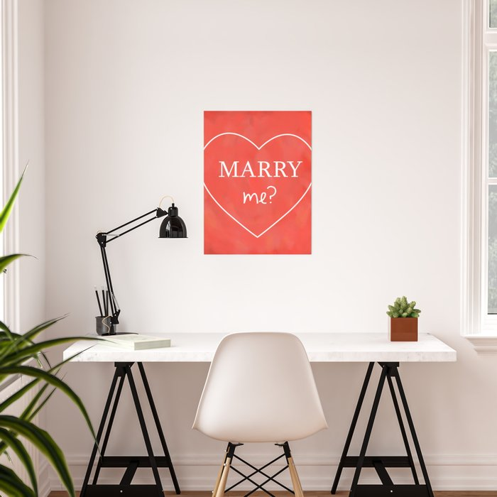 Valentines Day Marry Me Poster