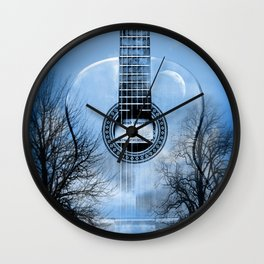music blue  Wall Clock