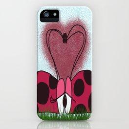 Ladybugs First Encounter iPhone Case