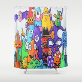 Family of Friends - Creatch Series Shower Curtain