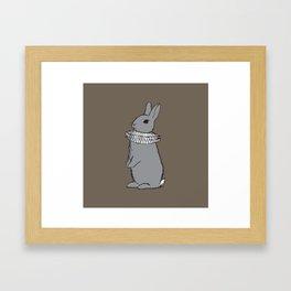 Frilly Rabbit Framed Art Print