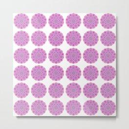 Collage of pink madalas Metal Print