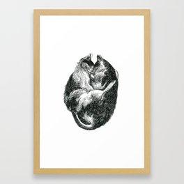 Inktober 2018: Exhausted Framed Art Print