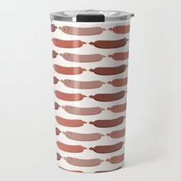 Cute vector sausages cartoon Travel Mug