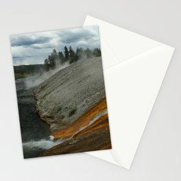 Thermal Geyser Runoff Into Firehole River Stationery Cards