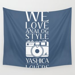 """""""We Love Analog"""" Wall Tapestry"""