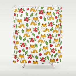 Cute foxes Shower Curtain