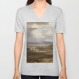 William Turner - Raby Castle, the Seat of the Earl of Darlington Unisex V-Neck