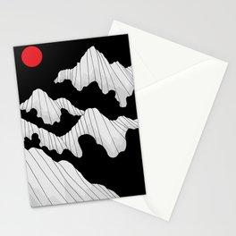 The dark cloud peaks Stationery Cards