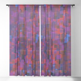 field of squares Sheer Curtain