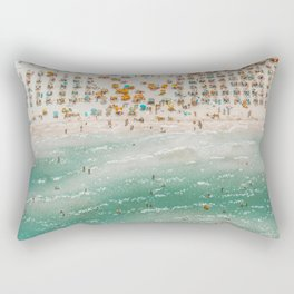 Summer beach crowd - Beautiful day aerial view  Rectangular Pillow