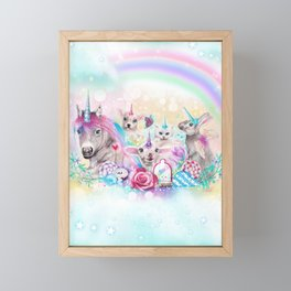 We All Just Want to be Unicorns Framed Mini Art Print