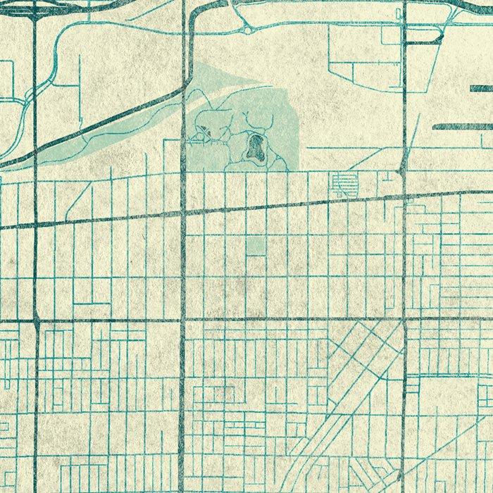 Milwaukee Map Blue Vintage Leggings